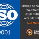 Matrice de corrélation pratique pour transition vers ISO 9001:2015