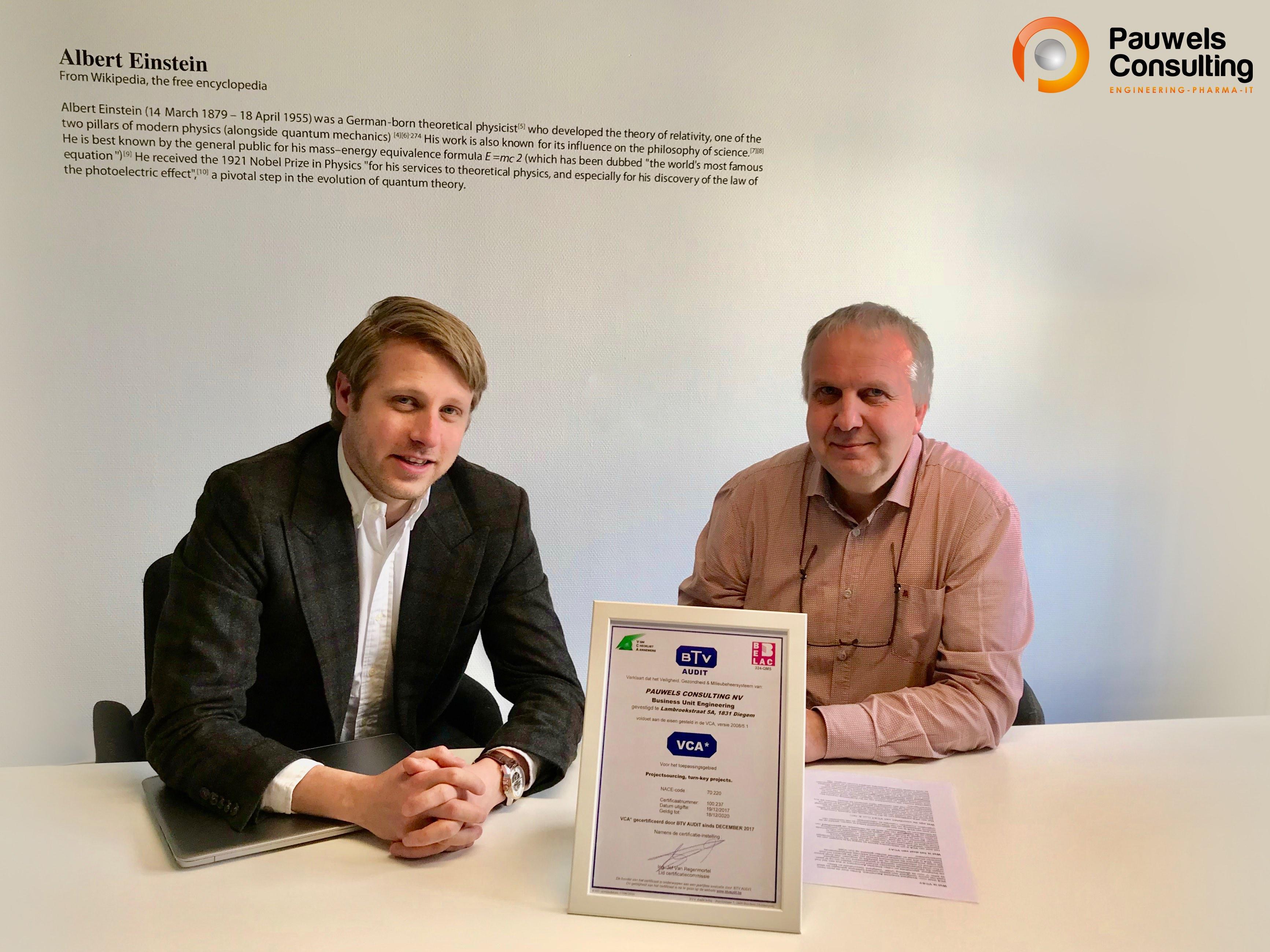 Pauwels Consulting obtient la certification LSC pour l'unité commerciale d'ingénierie